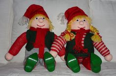 Nisseopskrifter Knitting Patterns Free, Free Knitting, Baby Knitting, Elf On The Shelf, Holiday Decor, Noel, Tricot Baby, Baby Knits, Baby Afghans