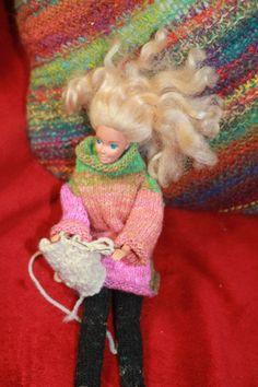 Chilling with the knitting