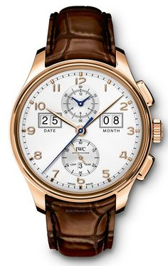 "IWC – Portugieser Perpetual Calendar Digital Date-Month Edition ""75th Anniversary"". Model featuring a large digital display for the date and month."