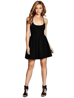 GUESS Monaco Sleeveless Fit-and-Flare Dress Black $39 AUTHENTIC- SHIPS FREE ♥ BUY HERE: http://www.beachhippieinc.net/guess-monaco-sleeveless-fit-and-flare-dress-black/ ♥ INCLUDES NORTON SHOPPING PROTECTION & LOWEST PRICE GUARANTEE!