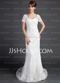 Wedding Dresses - $219.99 - A-Line/Princess Sweetheart Court Train Organza Satin Wedding Dress With Ruffle Lace Beadwork (002015797) http://jjshouse.com/A-Line-Princess-Sweetheart-Court-Train-Organza-Satin-Wedding-Dress-With-Ruffle-Lace-Beadwork-002015797-g15797
