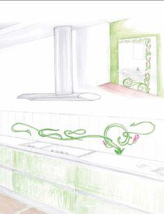 disegni  #Cevi #ceramica #lavorisumisura #cucina #schizzi