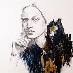 the oracle #fashionillustration#fashion #fashiondrawing #drawing #instaart#imperfect #inspiration #illustration #pencil #acrylic #artes #artwork #avantgarde #andro #androgynous #texture #karnkarnillustration