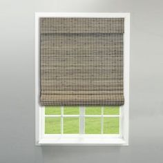 Radiance Cordless Privacy Weave Driftwood Roman Shade
