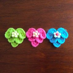 Corazones de San Valentín tejidos a crochet en el punto cocodrilo o escamas!