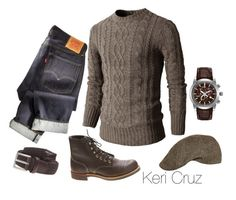 Distinguished Male by keri-cruz on Polyvore featuring polyvore, fashion, style, Citizen, Red Wing and Doublju