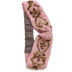 Namrata Joshipura Embellished Turban Headband - Pink (405 ARS) ❤ liked on  Polyvore featuring accessories 772f3720dd1