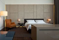 Van Baerle Guestroom in the Conservatorium Hotel,  Amsterdam, Netherlands
