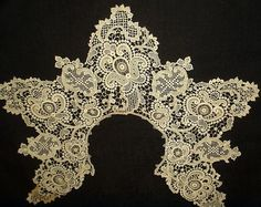 The Gatherings Antique Vintage - Antique Victorian Schiffli Embroidery Needlelace Dress Collar