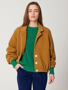 #Cotton Ottoman Rib Jacket | Women's Jackets, Coats
