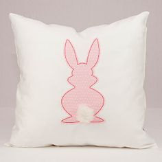 Pink Bunny Rabbit with Faux Fur Tail Applique on by LadyMaggies, $27.00