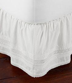 #LLBean: Sunwashed Pintuck Bed Skirt