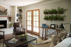 New living room white fireplace joanna gaines ideas Cottage Living Rooms, Living Room White, White Rooms, Living Room Decor, White Walls, Dining Room, Cozy Living, Bedroom Walls, Home Decor Bedroom
