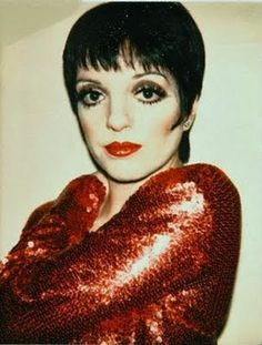 Liza Minnelli wearing Halston, photograph by Andy Warhol