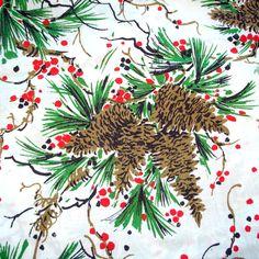 Vintage Christmas Fabric