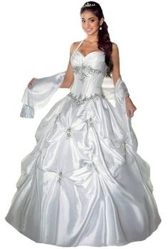 New White Halter Prom Ball Gown Wedding Quinceanera Dress Size:6,8,10,12,14,16 #Faironly #BallGown #Formal