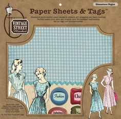 """""""Dimestore Vogue"""" Paper Sheets & Tags - $12.95 - Vintage Street Market"""