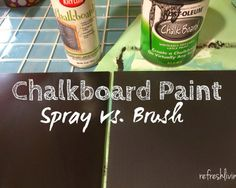 Ever wonder which type of commercial chalkboard paint to buy?  This post compares the two main types.