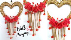 New Heart Wall Hanging Craft ideas - Easy Wall decoration ideas for Living Room by Maya !
