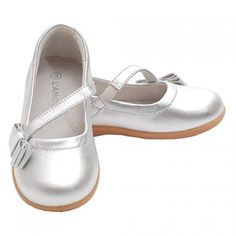 Silver Bow Mary Jane Style Strap Shoes Toddler 5-Little Girls 2