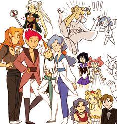 Fuck Yeah Pretty Soldier Sailor Moon - mimimonart: some doodles before bed Arte Sailor Moon, Sailor Moon Fan Art, Sailor Moon Character, Sailor Moon Manga, Sailor Moon Crystal, Sailor Saturno, Sailor Moon Aesthetic, Arte Sketchbook, Sailor Scouts