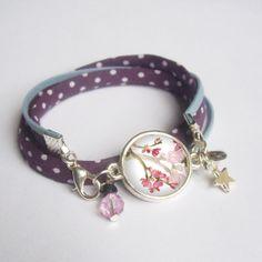 Bracelet cabochon 2 tours argenté bracelets à par BOUCLELLA sur Etsy, €12.50