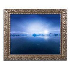 Trademark Fine Art 'Deep Blue' Canvas Art by Philippe Sainte-Laudy, Gold Ornate Frame, Size: 11 x 14, Multicolor