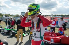 Mick Schumacher Photos Photos - Mick Schumacher looks on prior to the third race of ADAC Formula 4 at Hockenheimring on October 2, 2016 in Hockenheim, Germany. - ADAC Formula 4 Hockenheim - Day 2
