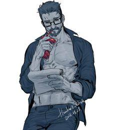 Gabriel Reyes - Glasses - Vampire AU