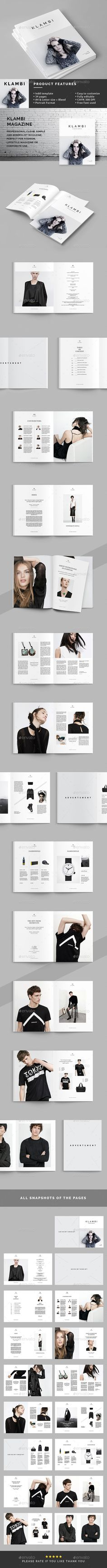 Klambi Magazine Template InDesign INDD #design #journal Download: http://graphicriver.net/item/klambi-magazine-/13303152?ref=ksioks