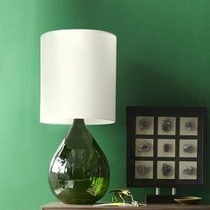 Glass Jug Table Lamp - Green #WestElm