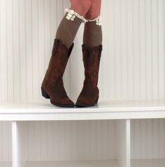 Womens Boot Socks Womens Boot cuffs Womens Leg by uptowngirlco