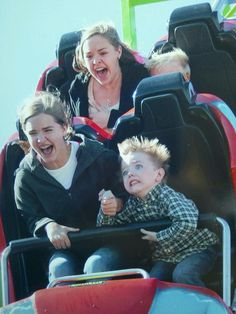 I would look just like this little boy on a roller coaster!!!!!! Everyone knows Shanta dont do rides!
