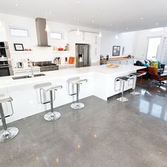 polished concrete floor kitchen 1000 images about polished concrete floors on 4301