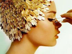 Gilded beauty #gold #makeup #beauty #inspiration