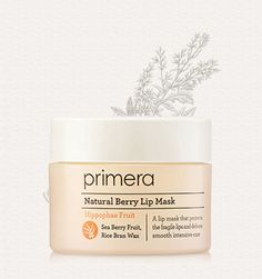 primera Natural Berry Lip Mask 17g Features Intensive lip mask with seabird fruit's nutrition and rice extract (10% moisturizing ingredients form natural). 5-FREE system ( non mineral oil, non animal ingredient, non