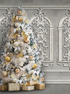 An elegant holiday background - White