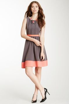Jessica Simpson Pleated Colorblock Dress by Jessica Simpson on @HauteLook $50