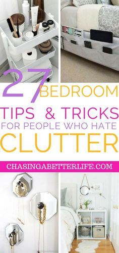 These 27 BEDROOM hacks are seriously life-changing. Re pinning for later! hacks bedroom 27 Bedroom Organization Hacks That'll Make You Look Like a Genius Bedroom Organization Diy, Bedroom Storage, Organization Hacks, Organizing Life, Hacks Diy, Home Hacks, Deep Cleaning Tips, Cleaning Hacks, Cleaning Checklist