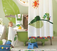 """""""The Very Hungry Caterpillar"""" was a good book but it also makes a wonderful theme for a kids bathroom. Check out these fun decor accessories from Pottery Barn Kids. My favorite all time book! Dowdy-- this is meant for your kids! Pottery Barn Kids, Kid Bathroom Decor, Baby Bathroom, Bathroom Stuff, Bathroom Designs, Bathroom Rules, Bath Decor, Bathroom Remodeling, Douche Design"""