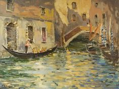 Original handmade painting by Ara Hakobyan, Oil on Canvas. One of a Kind painting in Impressionist style. This painting was created by well recognized painter during his travel to Venice Italy past year and represents a rare handmade artwork that is not only impressionistic but also comprises many elements of romantic, traditional and classic styles. Nevertheless, the painting reflects best traditions of impressionism and is a perfect artwork for having in collection.