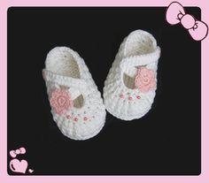 Handmade Crochet Baby Shoes Crocheting Baby Sandals Knitting Girls Shoes(LJ1). $5.99, via Etsy.