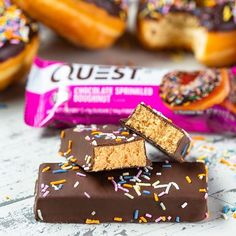 Best Tasting Protein Bars, Quest Protein Bars, High Protein Snacks, Chocolate Sprinkles, Chocolate Chip Cookie Dough, Chocolate Frosting, Italian Hot, Quest Nutrition, Pizza And More