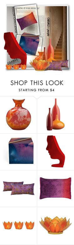 """""""Orange and Purple!!"""" by eco-art ❤ liked on Polyvore featuring interior, interiors, interior design, home, home decor, interior decorating, CB2, Driade, Designers Guild and Cultural Intrigue"""