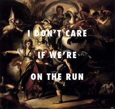 Dido and Aeneas are on the run The Royal Hunt of Dido and Aeneas, Francesco Solimena / Part II (On The Run), Jay-Z ft. Beyoncé