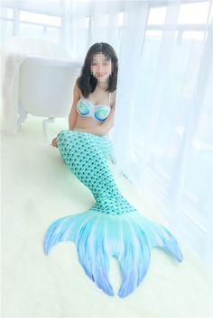 Water Green Mermaid Tail Set Women Swimwear Swimming Pool / Mono fin Flippers 36 #Unbranded #Swimsuit