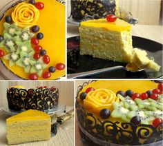 Mango Mousse Cake - One hell of a birthday cake!