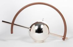 Sterling silver teapot by Wolfgang Gessl, 1990