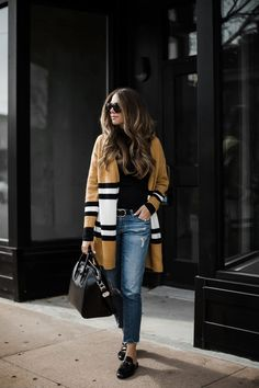 Girl on a Budget: The Striped Cardigan Under $25 | The Teacher Diva: a Dallas Fashion Blog featuring Beauty & Lifestyle