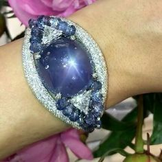 79.54ct Color Changing Star Sapphire Bangle!! Incredible Moussaieff Jewellers